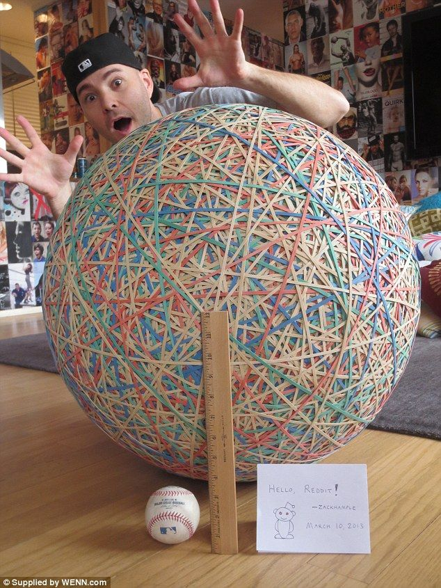 Man 35 Has Been Building Rubber Band Ball Since He Was 3