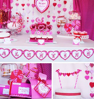 5 Gorgeous Valentine's Day Party Tables - Classy Clutter