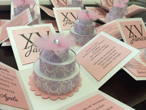 exploding box cake invitation quinceanera sweet 16 birthday