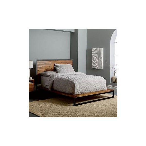 West Elm Logan Bed- Full, Natural (2,070 CAD) ❤ liked on Polyvore ...