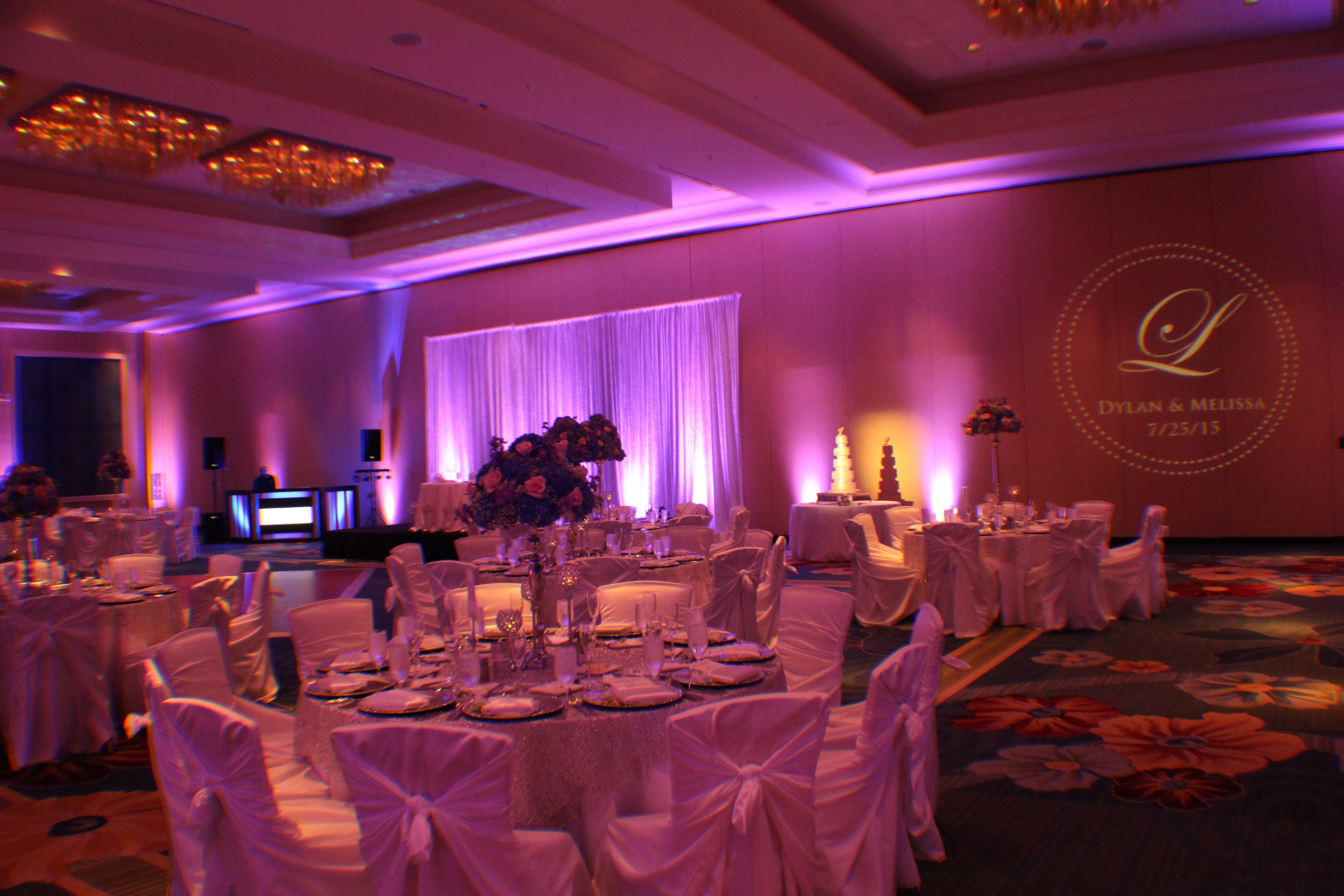 Hilton Orlando Wedding Lighting Options And Ideas Shown In Purple Is Key To An