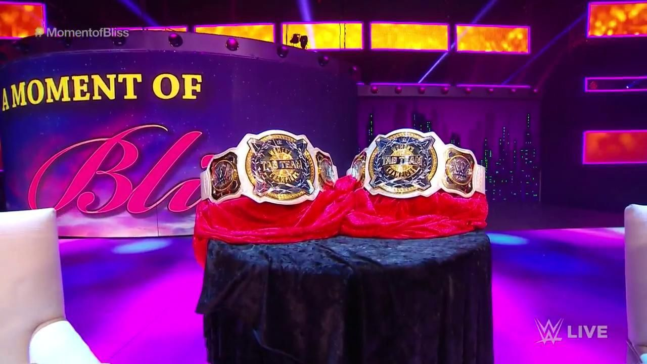 the new women s tag team titles that will go to the bella Twins  )))) 1c4ac443dc