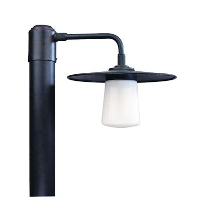 troy lighting edison one light outdoor medium lamp post in americana
