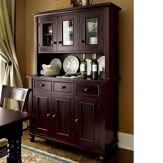 Kipling Mahogany Buffet With Hutch Top In Dining Kitchen Storage