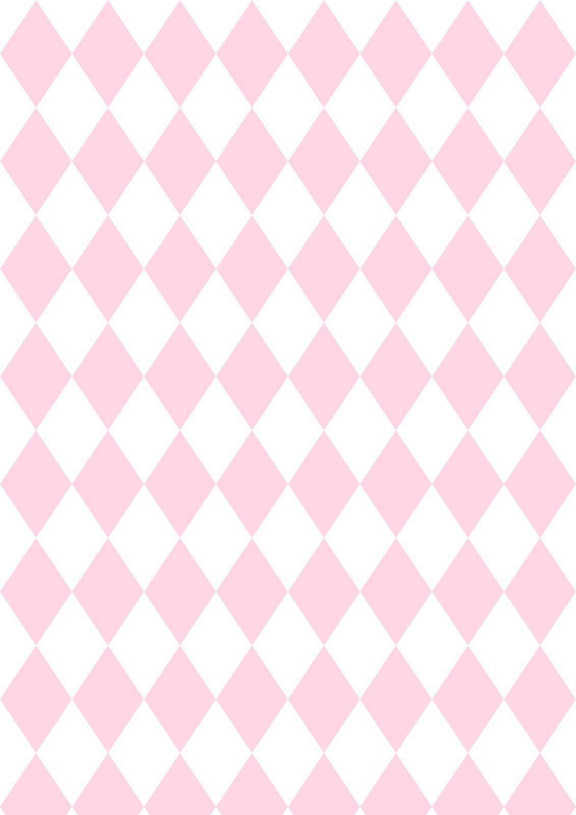 Free Digital Pink Harlequin Scrapbooking Paper Ausdruckbares