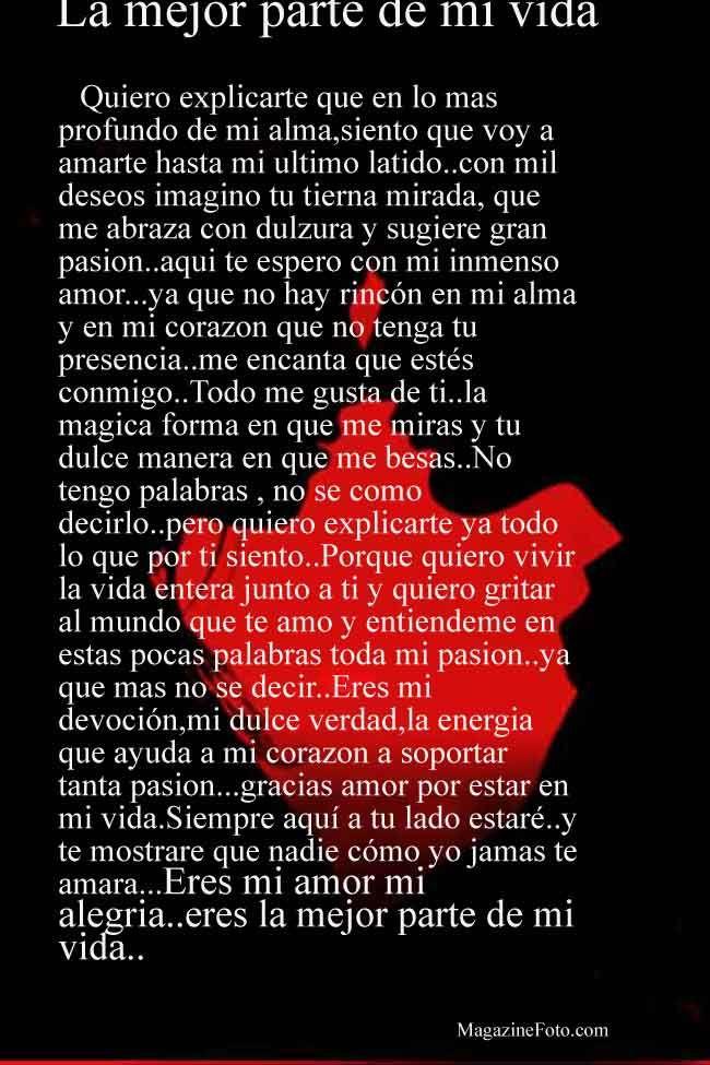 Bella Carta Poema Para Declarar Tu Amor Postales De Amor
