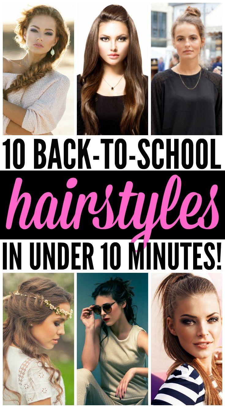 backtoschool hairstyles in under minutes school hairstyles