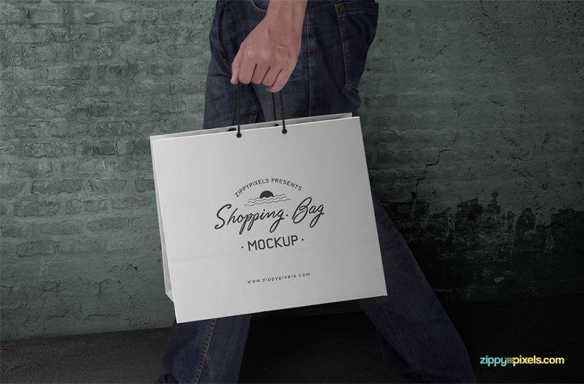 Download Free Shopping Bag Mockup Psd Zippypixels Bag Mockup Mockup Free Psd Packaging Mockup