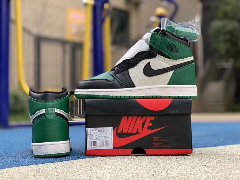 pine green new air jordan 1 high og gs 575441-302 shoes pics - www ... e8fdbb0c9