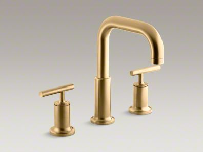 Kohler Purist Deck Mount Faucet Brushed Gold Bath Project In