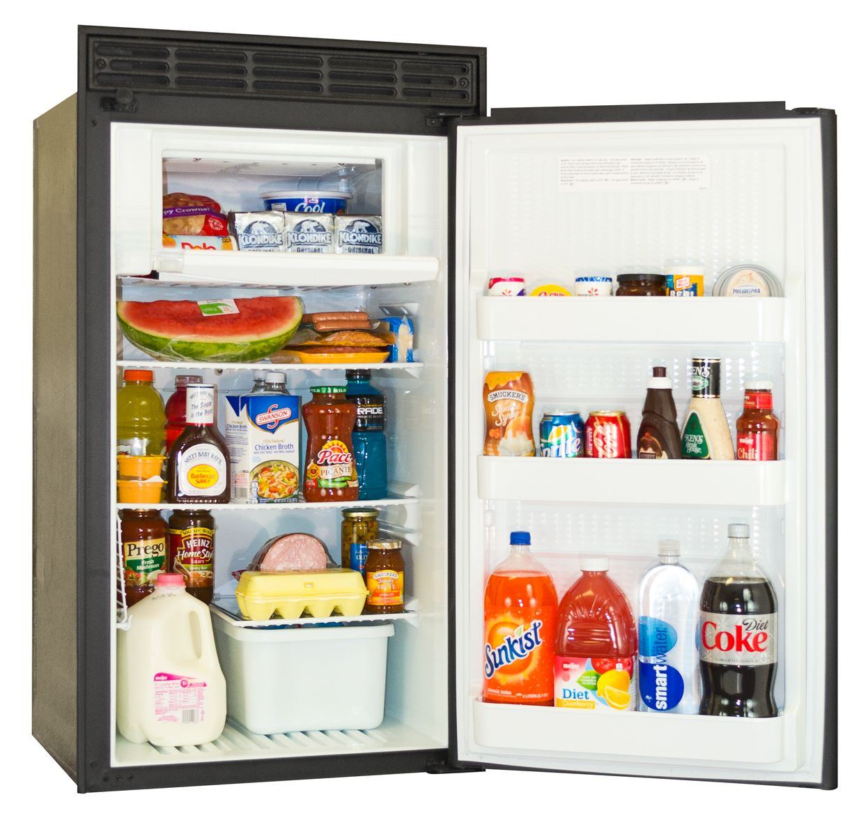 Norcold Dc558 Rv Refrigerator Open Angled Refrigerator Rv Refrigerator Rv Mods