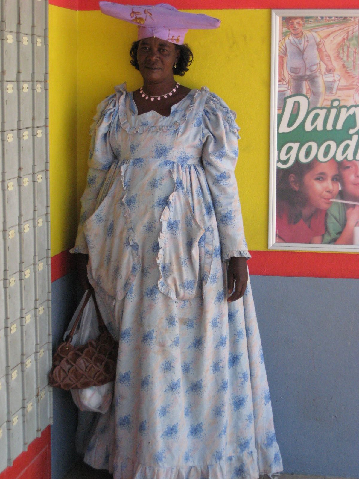 Herero lady - I talk about the Herero in the book