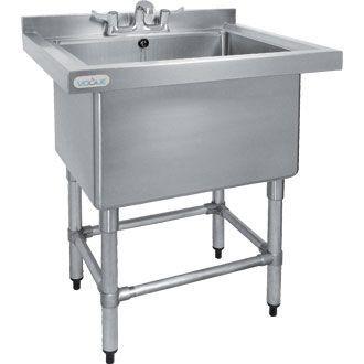 Deep Pot Sink in Stainless Steel