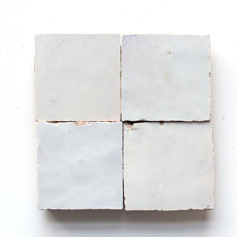 Weathered White Zellige 4 Quot X4 Quot X3 8 Quot White Square Tiles
