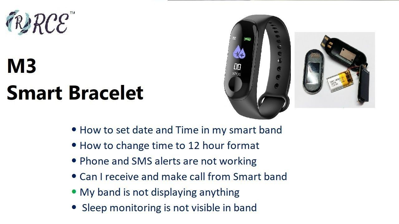 M3 Smart band - Commonly Asked Questions and Issues | Smart