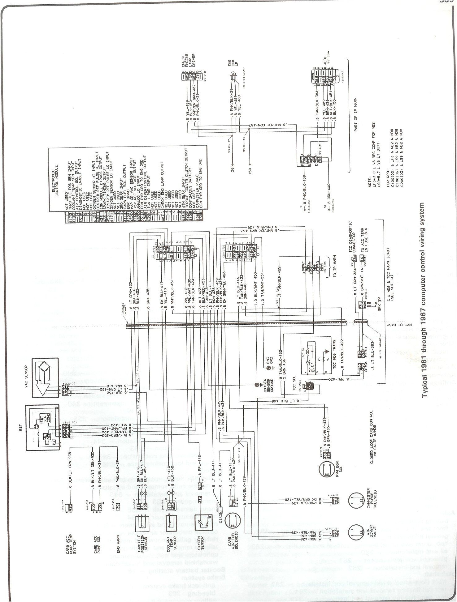 1936 Chevy Truck Wiring Diagram 240 Volt Pressure Switch Parts For To 1987 Chevrolet And Gmc