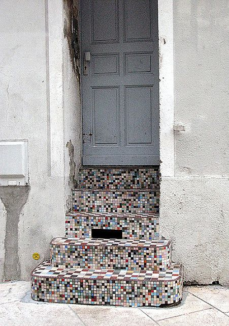 mosaic stairs France