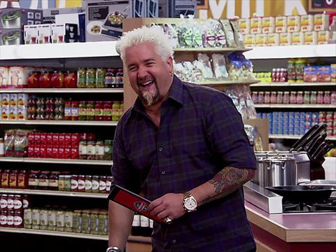 guy fieri sends four talented chefs running through the aisles on guy s grocery games browse top photos and watch clips of the show on food network