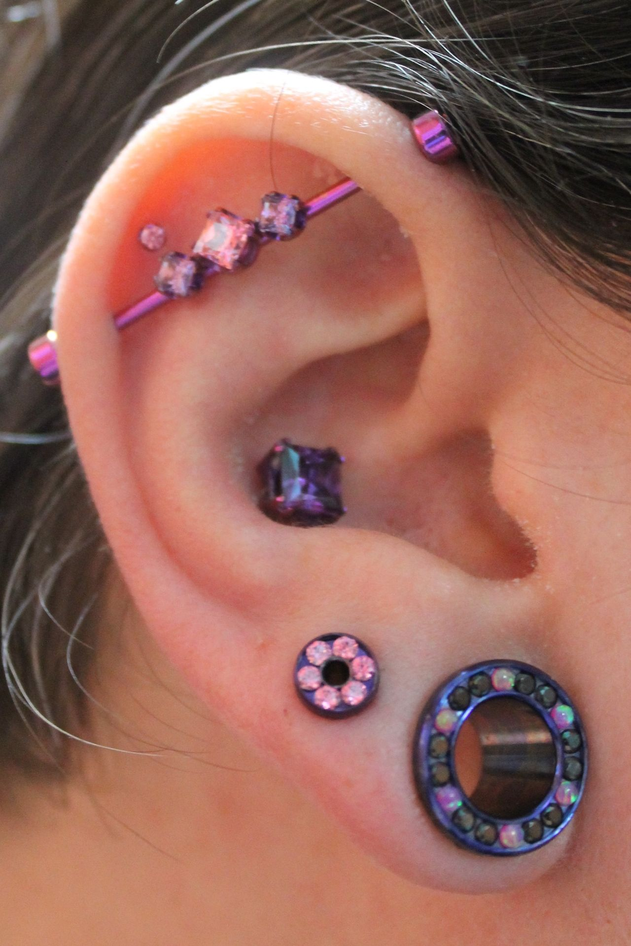 Nose and ear piercing  All jewelry by Anatometal Beautiful I am going to do this with my
