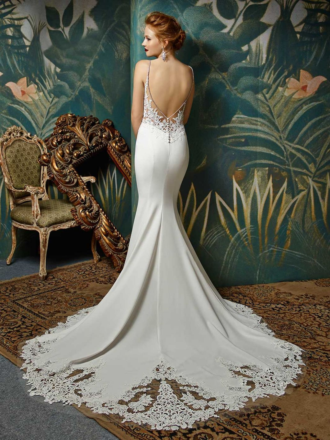 Dreaming about wearing a wedding dress   Blue by Enzoani Juri BackView  Sacramento Bridal Salon