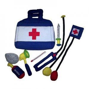 Smyles Doktertas. Uitgebreide doktertas voor rollenspel met kind en ouder of voor een poppenmoeder/ vader. Het speelgoed is kleurrijk en van zachte zuivere stoffen, het is van de hoogste kwaliteit, veilig, duurzaam en wasbaar op 30º.