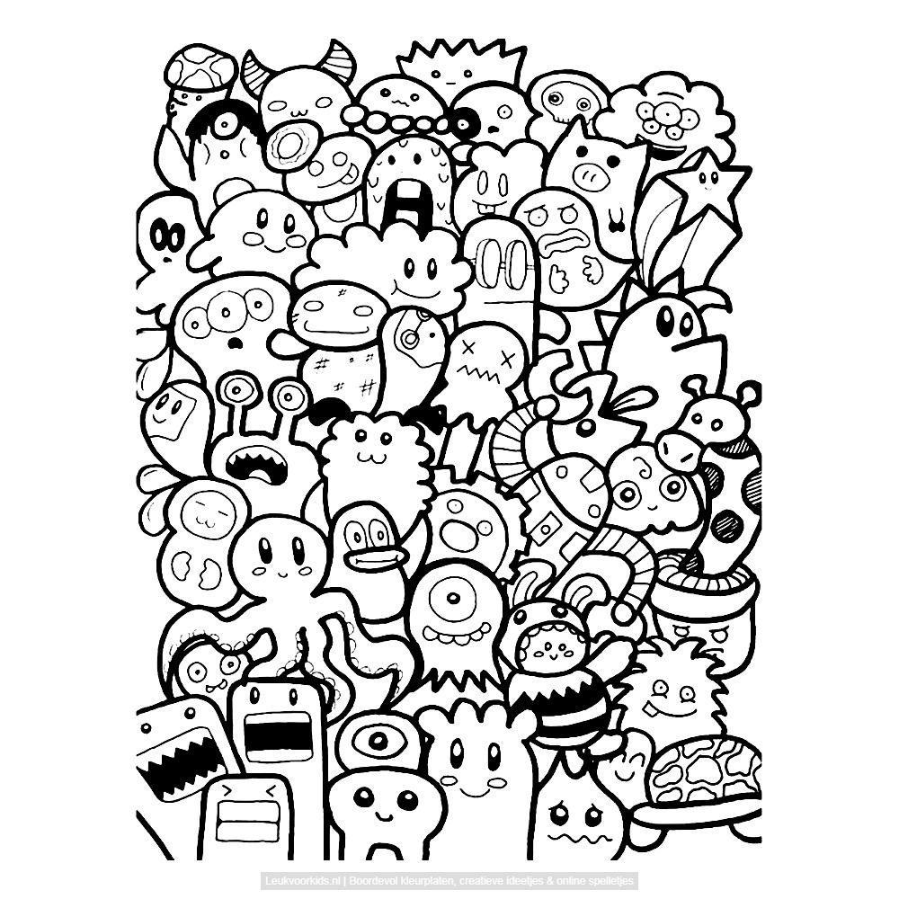 Bekijk Monsters Doodle Door Bjon Bryan Kleurplaat Krabbel Kunst Tekeningen Krabbel Kunst Dagboek Monsters