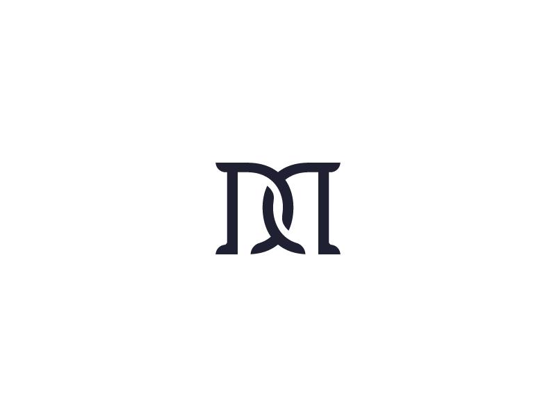 Personal Logo M D Initials Logo Design Personal Logo Dance Logo