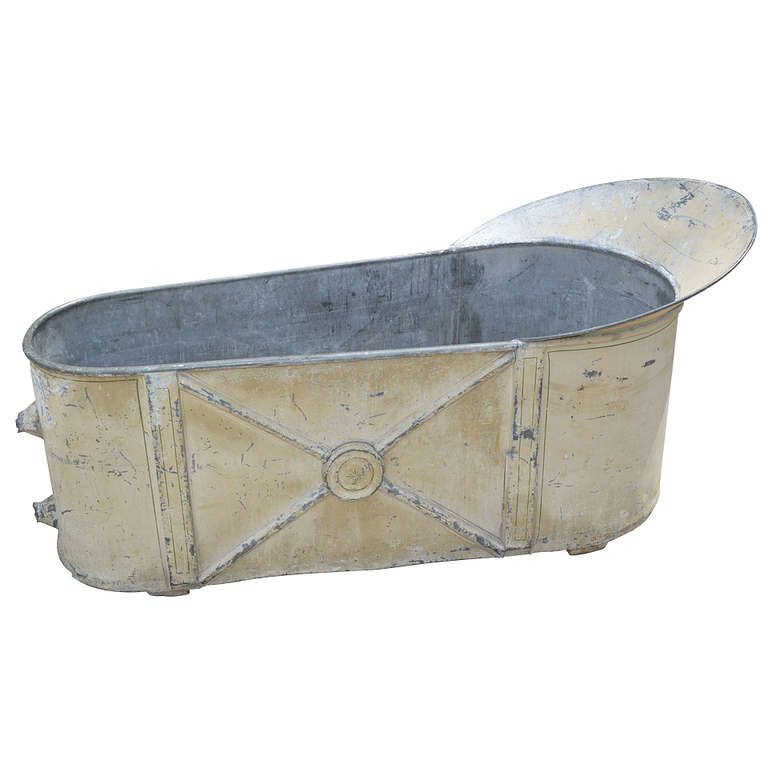 1800s French Antique Zinc Bathtub Tin Bathtub By Funknjunkinc, $650.00   My  Shop   Pinterest   French Antiques, Bathtubs And Household Items