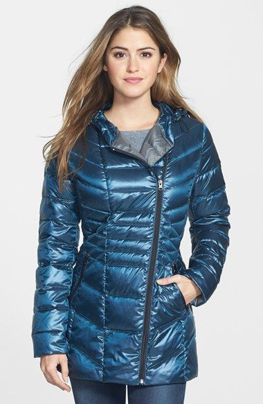 Halogen® Hooded Down & Feather Fill Jacket | Nordstrom