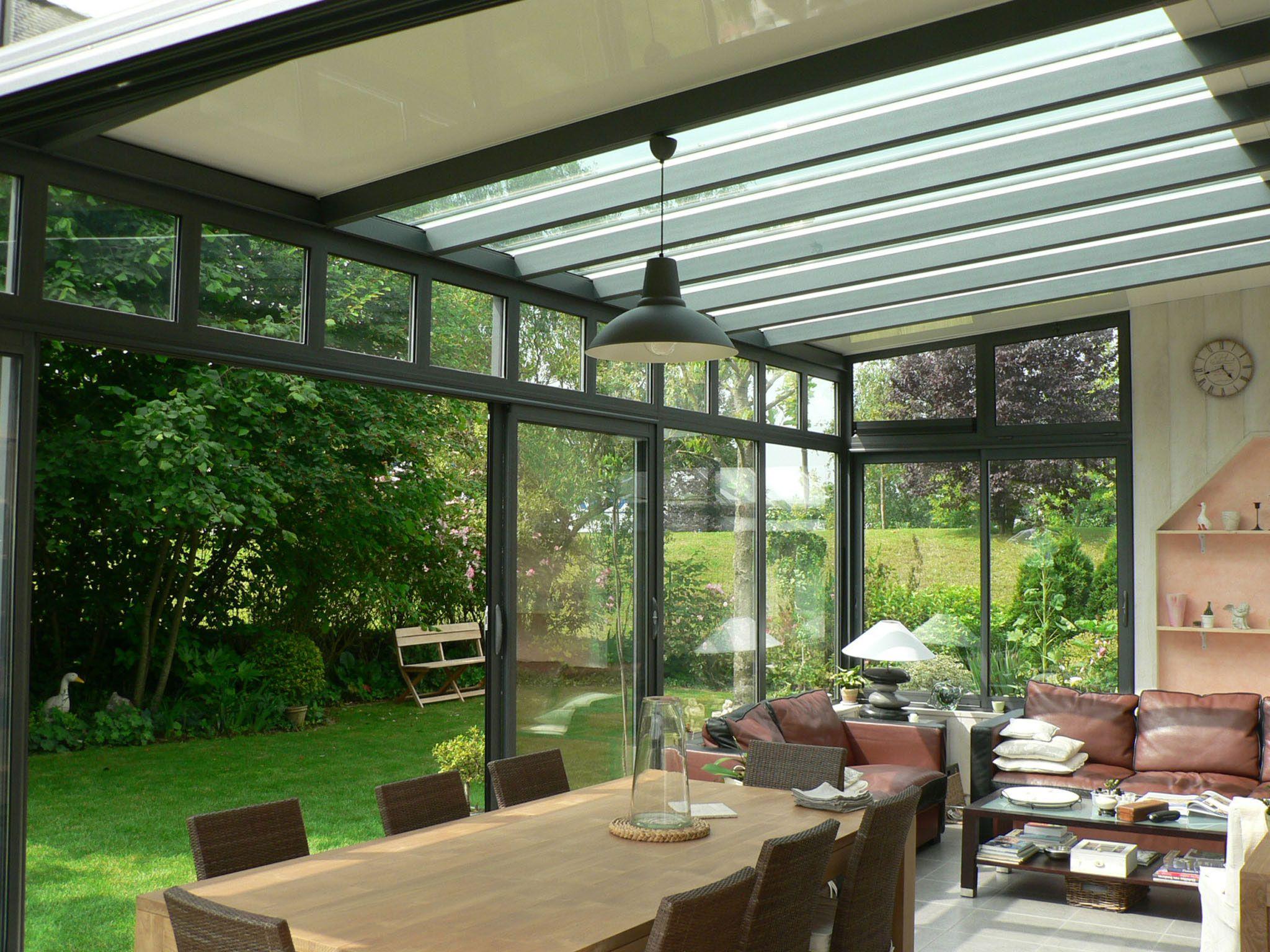 Véranda atelier pièce à vivre | Glass roof pergolas en 2019 | Déco maison, Veranda et Maison
