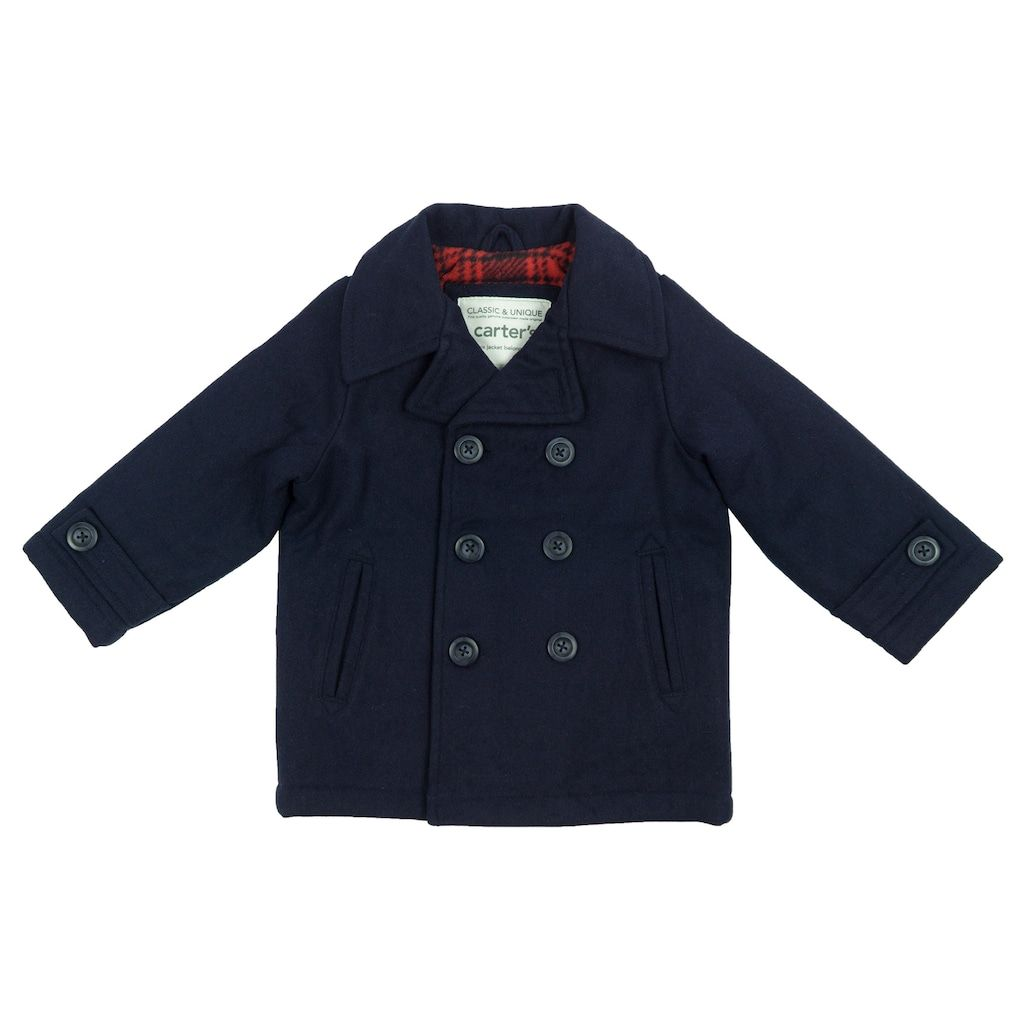 4dc1139737b5 Baby Boy Carter s Lightweight Peacoat Jacket