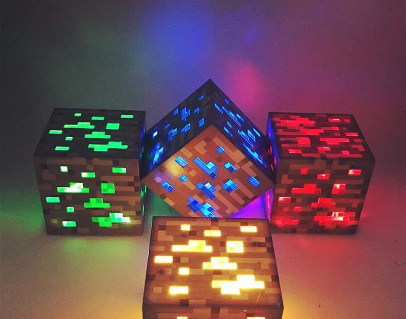 Hot Offer Minecrafted Light Up Torch Led Lamp Diamond Square Light