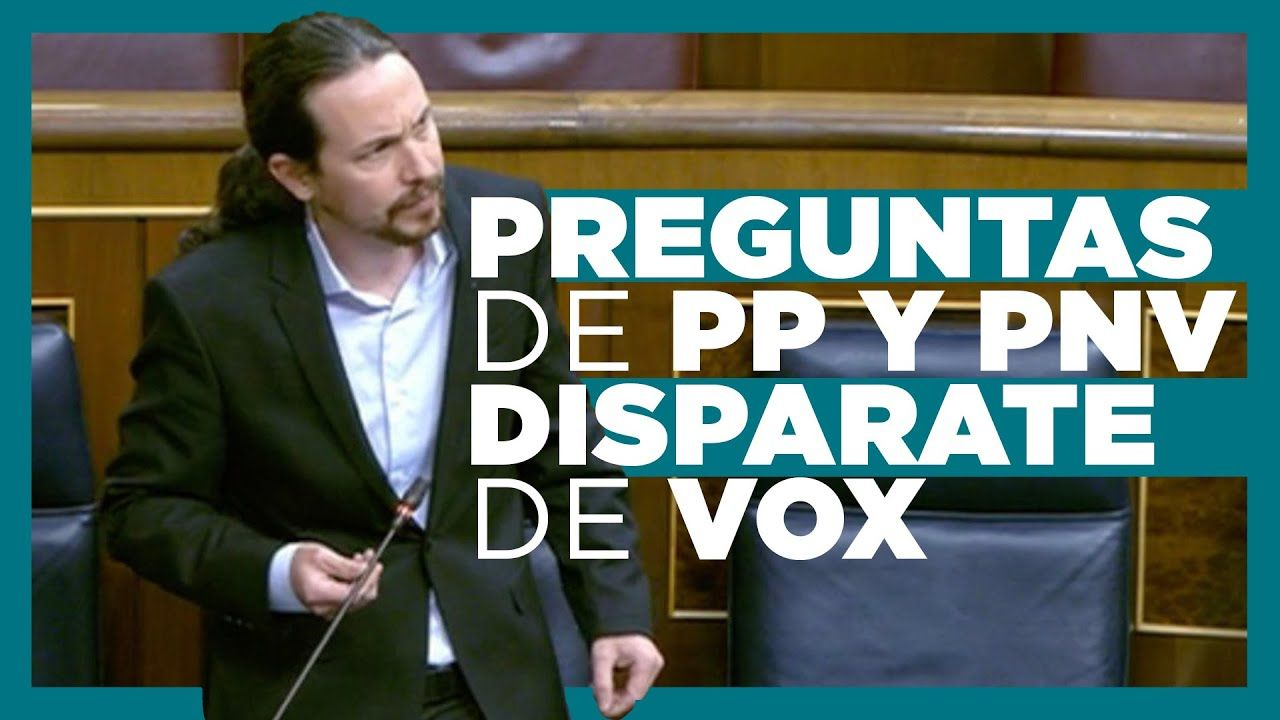 El Vicepresidente Pablo Iglesias Responde A Las Preguntas De La Oposición Preguntas Oposicion Iglesia
