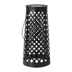 solvinden led solar powered floor lamp cone shaped black height 45