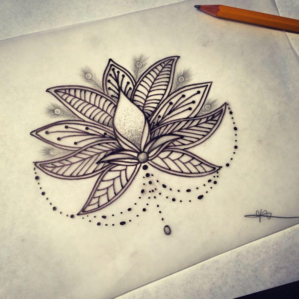mandala design flower tattoo drawing drawings pinterest. Black Bedroom Furniture Sets. Home Design Ideas
