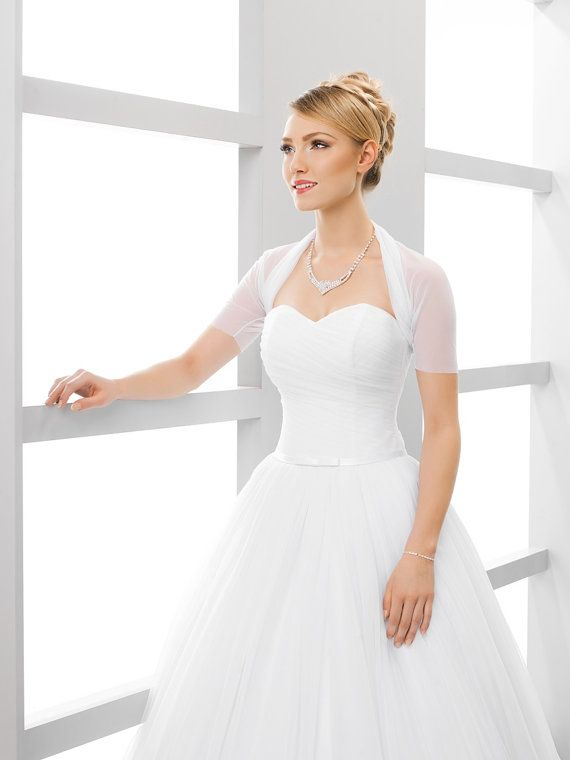 Simple Short Sleeve Bridal Cover Up Simple Short Sleeved Bridal