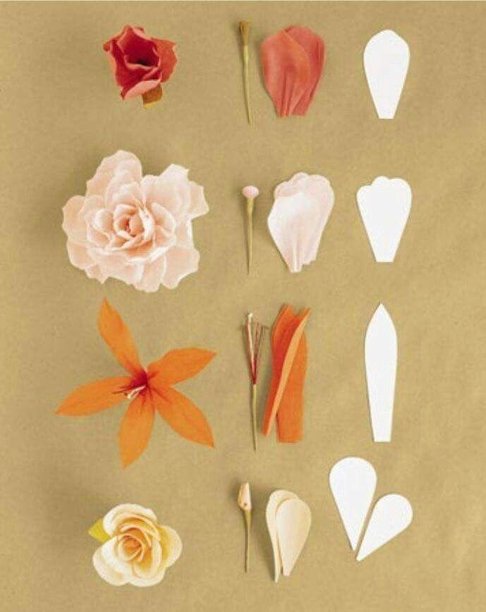 Pin by Sarinthip Phanchandi on วิธีทำดอกไม้ | Pinterest