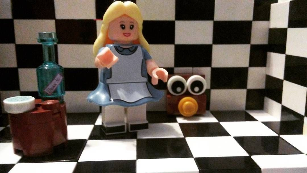 My second Lego Alice in wonderland moc. #Disney #Lego #minifigures #moc by zach_mickschl