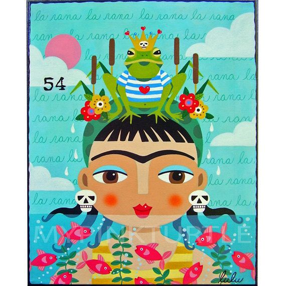 Frida Kahlo Dancing In Traditional Dress Print Of Painting