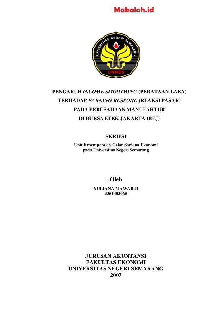 Contoh Judul Skripsi Akuntansi Keuangan Frasmi Cute766