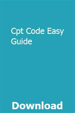 Cpt Code Easy Guide Cpt codes, Coding, Basic coding
