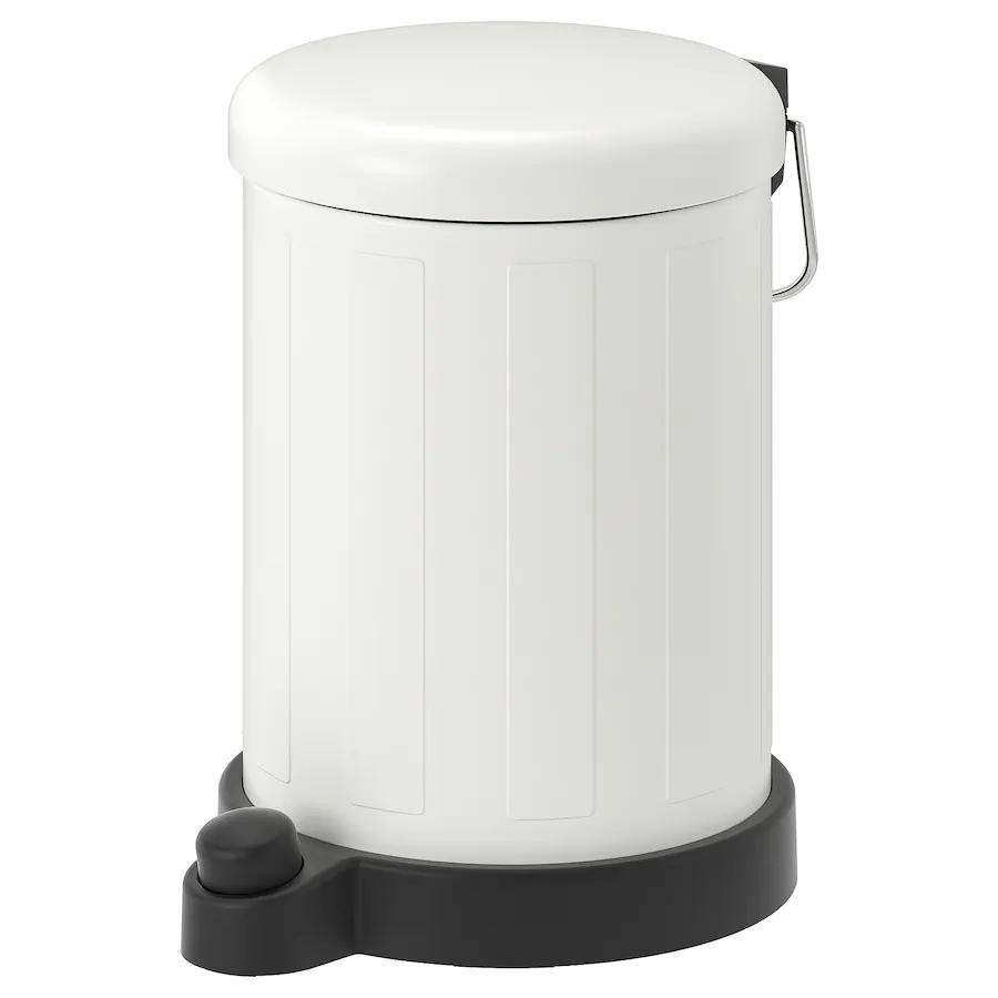 For Bathroom Toftan Trash Can White 1 Gallon Ikea Bathroom Trash Can Trash Can Wash Basin Accessories