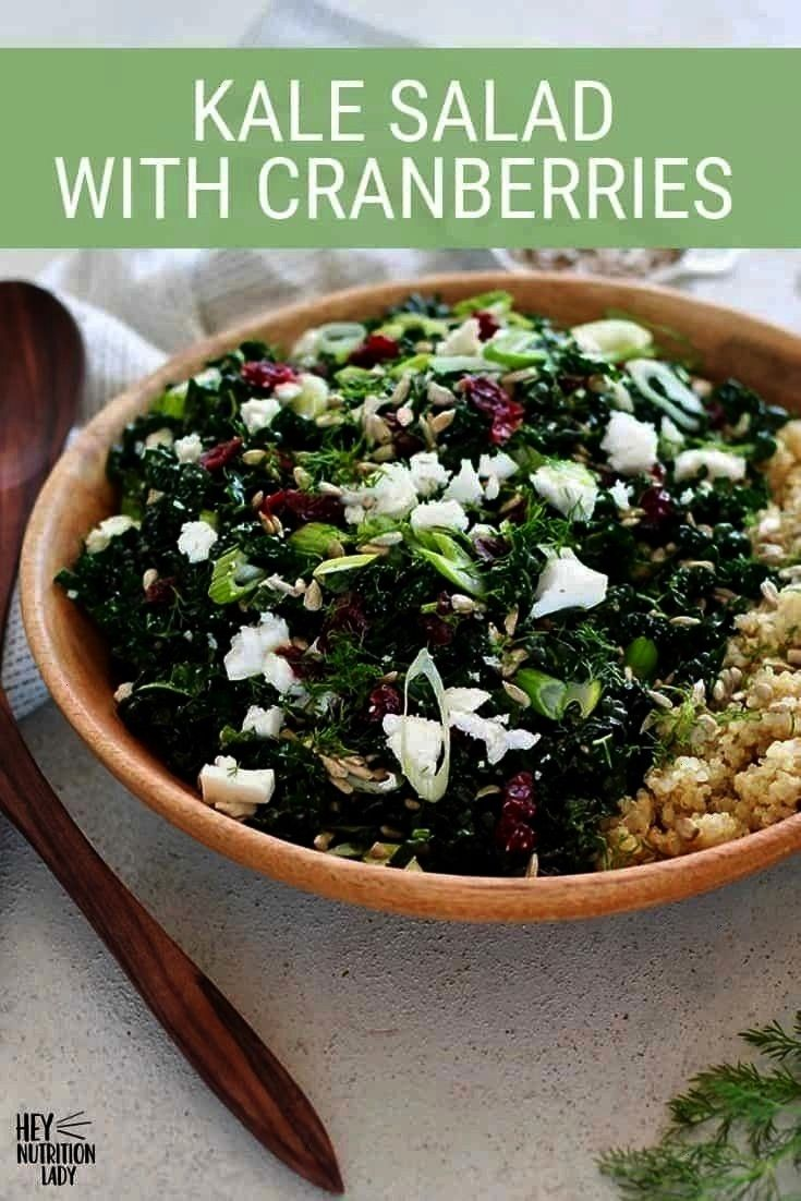 With Cranberries This easy Massaged Kale Salad with Cranberries is made with sweet Tuscan kale. A s