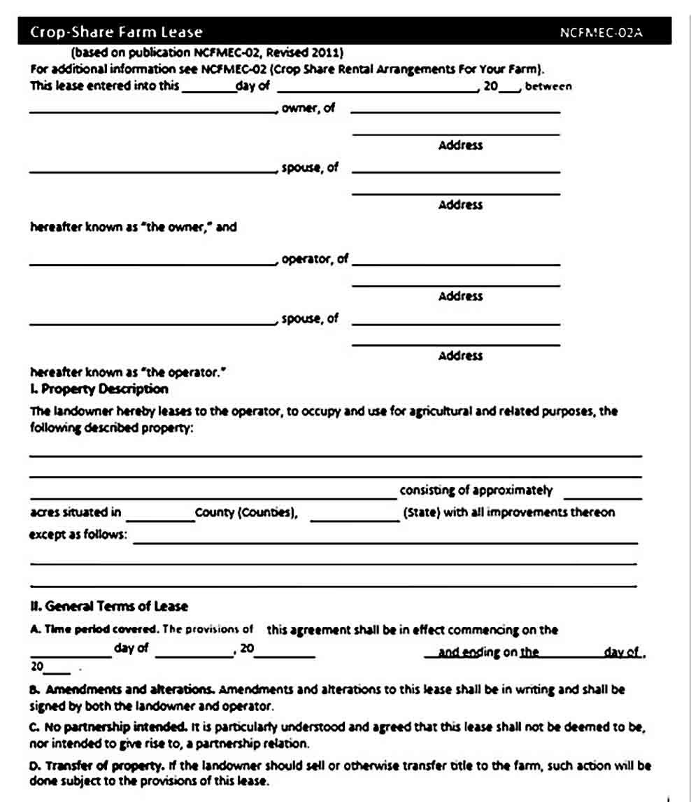 Sample Land Lease Agreement Lease Agreement Being A Landlord Business Template