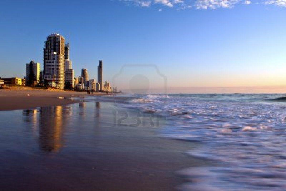 A Beautiful Morning At The Beach Gold Coast Australia Coast