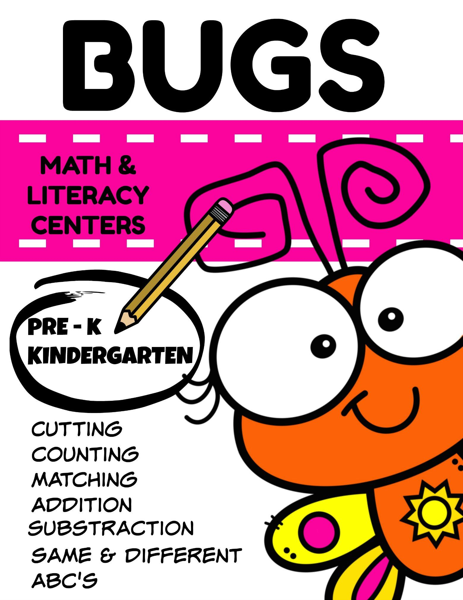 Bugs Math And Literacy Mini Packet