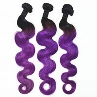 body wave hair extension colorful hair extension