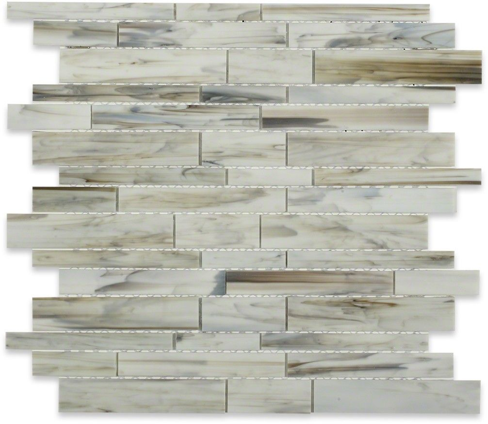 Matchstix Aura White Glass Tile | TIleBar.com | Home - Beautiful ...
