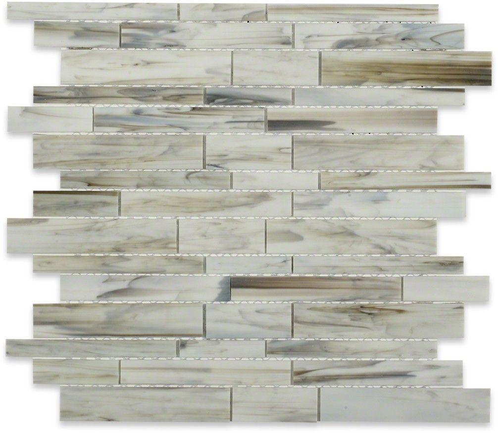 Matchstix Aura White Glass Tile   TIleBar.com   Home - Beautiful ...