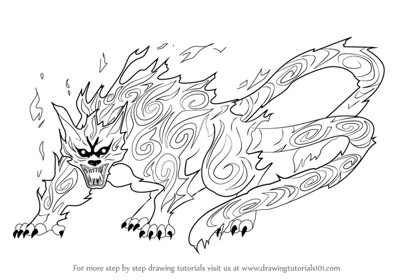 Learn How to Draw Matatabi from Naruto (Naruto) Step by